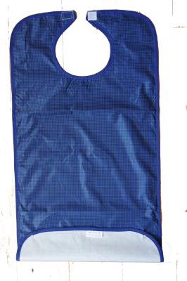 Haklapp blå plastad