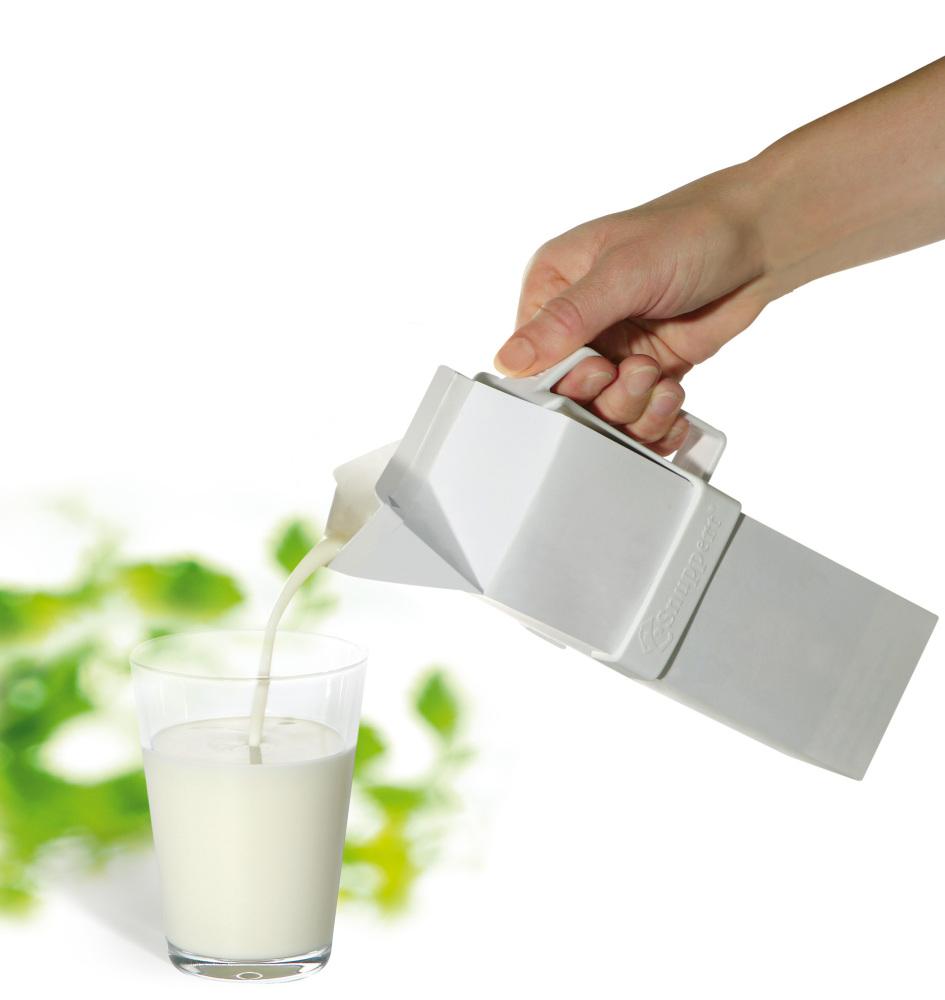 Handtag för mjölk- och juiceförpackningar - kvadratiskkt