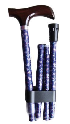 Käpp - blå med Paisly-mönster
