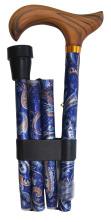 Hopfällbar käpp - blå Cachemere