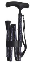 Hopfällbar käpp - svart/lila, exclusive, handledsrem