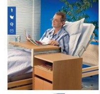 Sängbord Invacare Sonnet Combi i bok